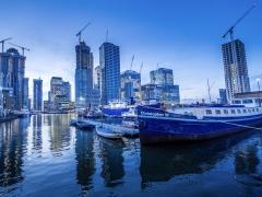 Blue Hour at Canary Wharf - Ciara Jennings