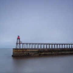 3rd Print - Whitby Pier by Sarah Hargreves