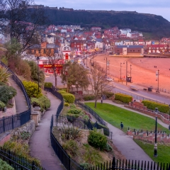 Evening Light Scarborough by Robert Bilton