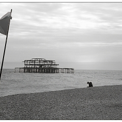 Old Brighton Pier by Neil Scarlett