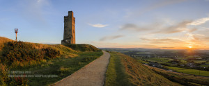 Castle Hill Sunset Pano Merged